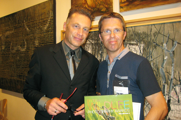Chris Packham and me at the awards night