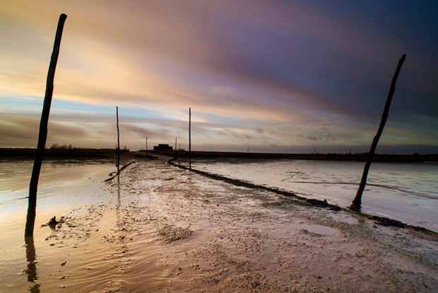 Harty Ferry slipway at sunrise. Taken a short while after the above image.  Nikon D600, 20mm f2.8, iso 100, 25 secs. f22, Lee 0.6 ND grad + ProGlass Standard ND filter.
