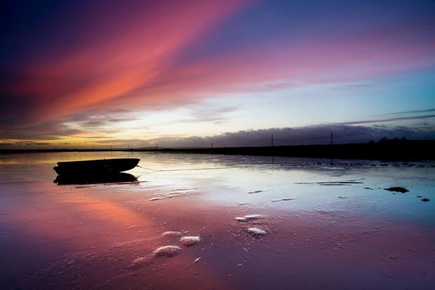 The Swale at sunrise Nikon D600, 20mm f2.8, iso 100, 3 secs. f16, Lee 0.6 ND grad.