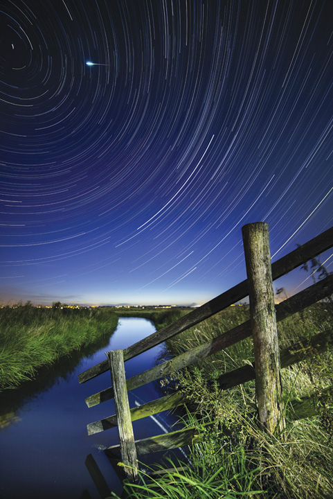 Meteor and star-trails